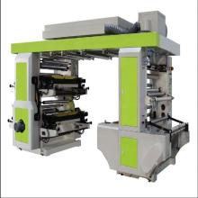 Six4 / 6 Colour Flexo Printer Plastic T-shirt shopping bag PE Biodegradable Film Logo Label Flexographic Printing Machine