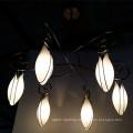 Livingroom Six Lights Opal White Glass Flower Shape Chandelier