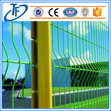Yellow peach shaped post iron wire