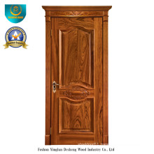 European Style Solid Wood Door with Carving (ds-049)