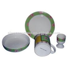 4pcs porcelana desayuno conjunto de BS04500