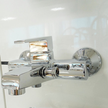 Chrome Messing Polish Afwerking Badkamer Douche & Bad Mixer