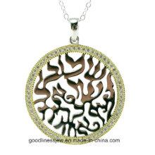 Colgante de plata caliente de la piedra de la joyería CZ del diseño de la fábrica para la mujer (P6063)