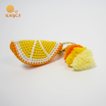 Venta al por mayor Crochet Orange Key Chain Accessories