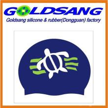 Customized Printed Logo Silicone Swimming Caps