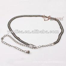 Cintura de las mujeres de la manera en PU con el diseño de la borla de cadena el mejor de YIWU DISHA