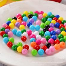 10mm schwarze runde lose Plastikdekorationsperlen