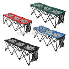 cadeiras de banco dobráveis portáteis da equipe 3 lugares