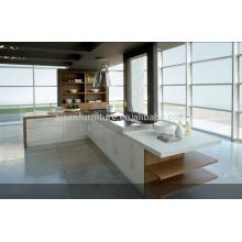 SKB2244 Arandela de cocina de laca de alto brillo de color blanco Estilo moderno Armarios de cocina modular Diseño Gabinete de cocina italiano