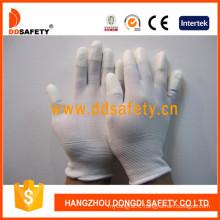 White Nylon White PU Glove Dpi101