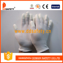 Белый нейлон Белый PU перчатки Dpi101