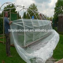 Película de plástico transparente de 150 micras / 200 micrones para invernadero para vegetales