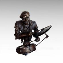 Büsten Messing Statue Drum Kit Dekoration Bronze Skulptur Tpy-484
