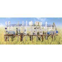50 toneladas por dia automático planta de usina de arroz completo layout