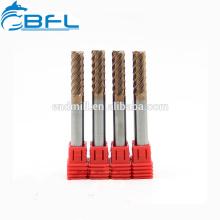Herramientas de corte de máquina CNC BFL, carburo 6 flautas acabado acabado molino para acero