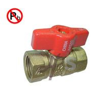 Robinet à tournant sphérique de gaz de laiton de faible teneur en plomb de NSF pour le marché des USA FXF