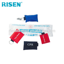 First Aid Resuscitation Keychain Red CPR