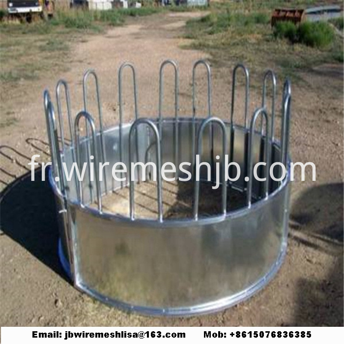 Galvanized Cattle Hay Bale Feeder