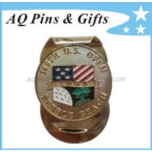 Metal Golf Soft Enamel Money Clip with USA Flag (Golf-26)