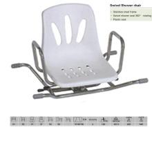 Cadeira de chuveiro de plástico giratório