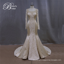 Charming Champagne Mermaid Wedding Dress Wedding Gown