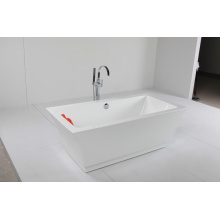 Acrylic Freestanding Bathtub with Beautiful Curve Line