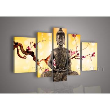 Pinturas de Buda enmarcadas en el arte de la pared de la lona (BU-005)