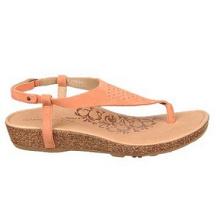 Sandales casual en cuir ou en daim orange clair