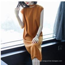 PK18CH002 women dress cotton blend short sleeve pullover