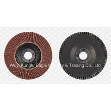 Aluminium Oxide Flap Abrasive Discs (fibre glass cover 22*14mm 40#)
