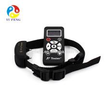 Colar impermeável automático manual do colar do treinamento do cão, operação recarregável com controlo a distância sem fio de 800yards