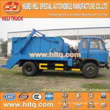 8cbm 4x2 DONGFENG hydraulic lifter garbage truck skip loader garbage truck trash truck new model good quality