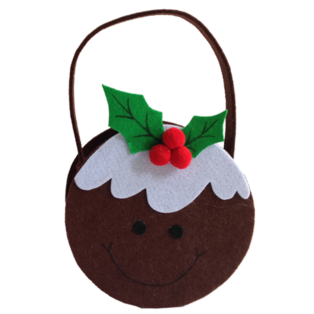 Christmas Pudding Candy Gift Bag
