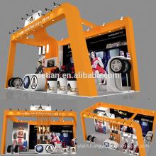 Detian offer modular exhibition stand design portable booth expo