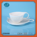 drinkware type porcelain coffee cup and saucer,customized coffee cup and saucer with printing