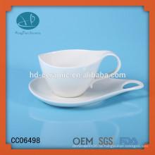 Drinkware Art Porzellan Kaffeetasse und Untertasse, kundenspezifische Kaffeetasse und Untertasse mit Druck