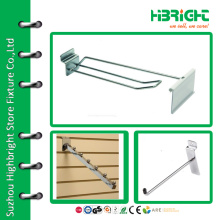 Wire double line shelf hooks with tag