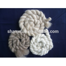 dehaired and combed mongolia cashmere tops white/light grey/brown color