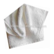 Горячая продажа чистый белый хлопок полотенце ткань ватки полотенце