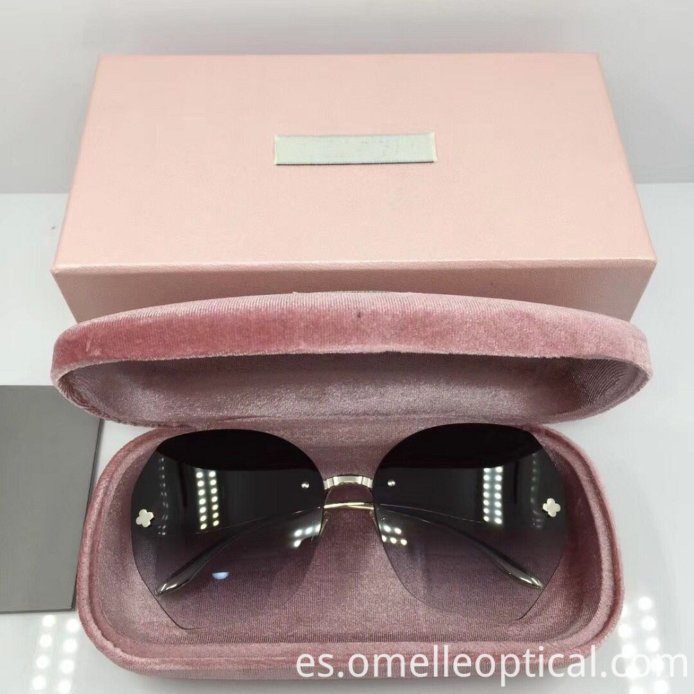 Rimless Sunglasses For Female