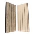 Anti-uv plancher boisé rainuré extérieur wpc decking