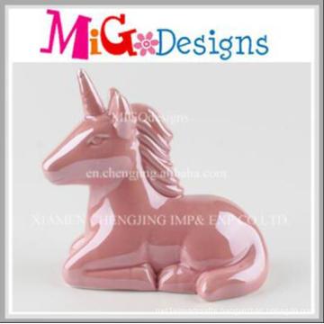 Ceramic Adorable Unicorn Hand Painted Piggy Bank