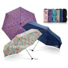 Quadratischer Mini-5-fach-Regenschirm
