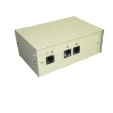 Intercambio manual de 2 puertos Red Ethernet RJ45 Interruptor de datos Caja selectora (6070)