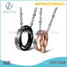 Good quality rings couple pendant design,pendant necklace supplier