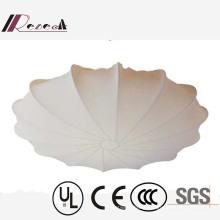 European Hotel Decorative White Fabric Umbrella Type Ceiling Lamp