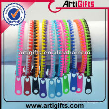 Double color cheap mens zipper bracelet