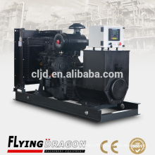 Best quality SDEC open type 1500RPM electric power plant 100kw 125kva diesel generator with base fuel tank