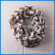 Achat bon marché print chevron circle scarf