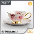 Fine Bone China dekorative Großhandel Teetasse und Untertasse gesetzt